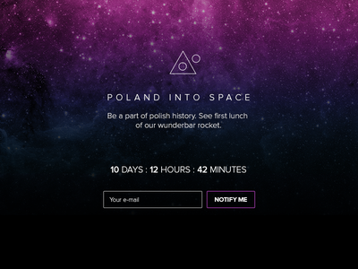 DailyUI - Day 014 Countdown Timer notify page landing space poland ui 014