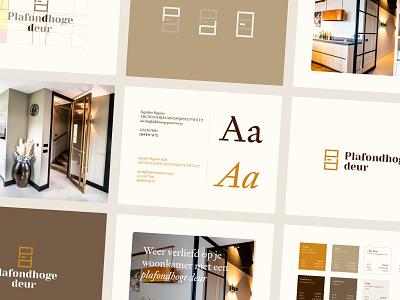 Plafondhoge Deur - Brandbook door wild-digital gold brown orange brand identity brandbook branding