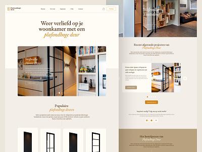 Plafondhoge Deur - Website shopify brown gold orange ux ui brand identity door website branding