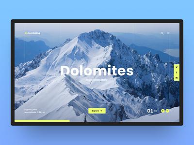 01 Dolomites poppins green yellow blue mountains