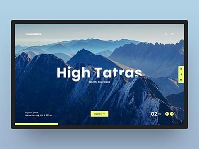 02 High Tatras exploration poppins mountains yellow grey blue