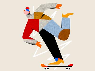 Later skater branding color design illustrators illustration texture