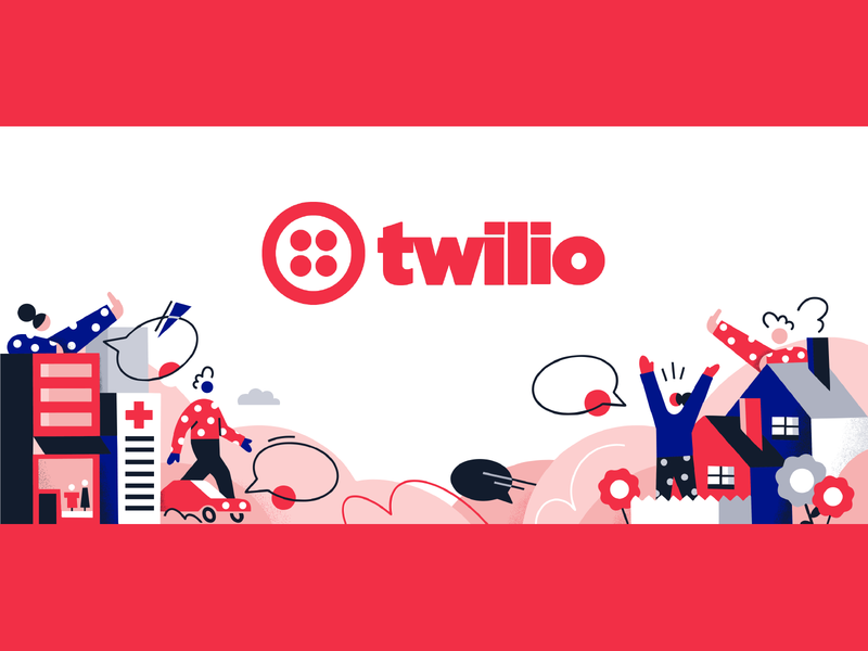 Twilio Homepage Illustration twilio texture design vector color colors character illustration