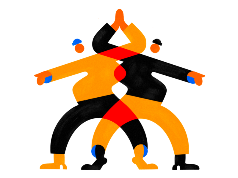 Who else misses high-fives? color branding texture design colors character illustration