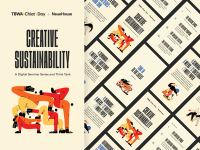 Neuehouse x TBWA/Chiat Day Program Illustrations illustrators inspiration editorial branding design color vector colors character illustration