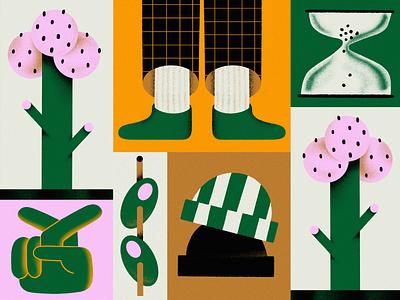 Waiting with Fingers Crossed branding texture textures illustration pattern election bidenharris2020