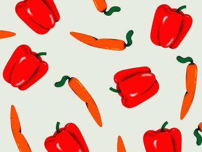 Pepper Pattern texture design color branding colors illustration