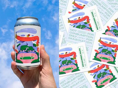 Park Pilsner | McCarren Park packaging beer design color branding colors character illustration