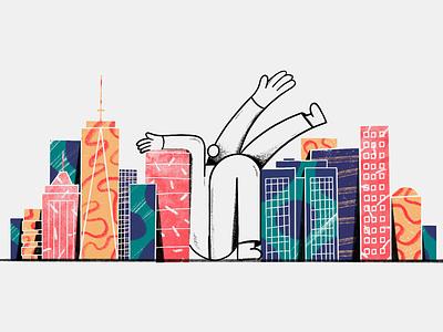 New York real estate v2 nyc new york city illustration