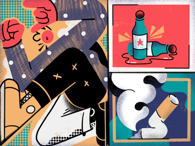 Weekend is here! inspiration texture colors weekend illustration