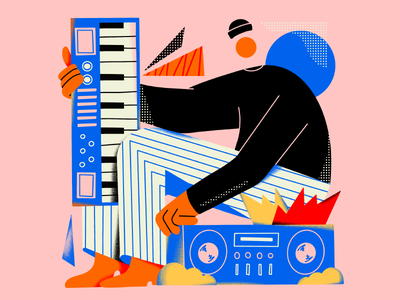 Keyboardist music keyboard piano illustration