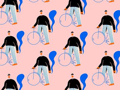 on repeat illustration pattern