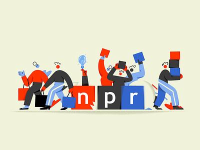 NPR giving Tuesday inspiration design illustrators illustration giving tuesday npr