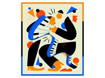 Played me like a Piano editorial music illustrators branding characterdesign design illustration piano