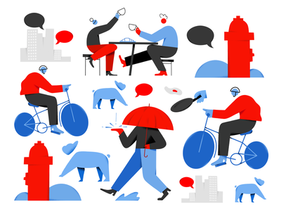 Bits and Pieces for NPR ui editorial branding texture design colors character illustration npr