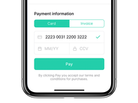 Checkout payment form