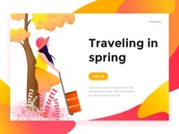 Traveling in spring