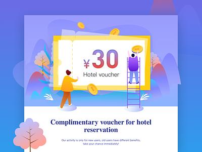 Hotel voucher web design app interface ui