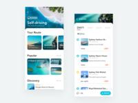 Self-driving purple blue ux interface design app ui