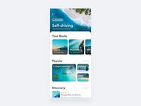Self-driving purple motion blue interface design app ui
