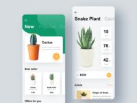 Plant green ios ux interface design app ui