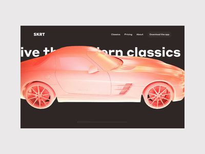 Modern Classics Landing 2 clean typography after effects cinema 4d landing interaction 3d animation web ui