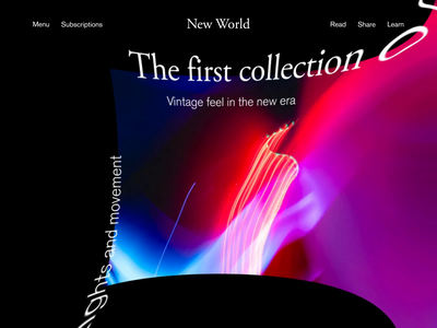 New World Carousel Animation typography animation design blog design after effects 3d interaction animation web