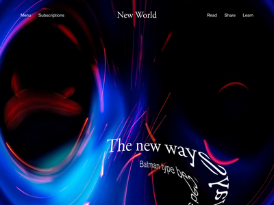 New World Story Intro web after effects design typography interaction animation
