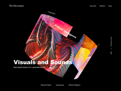 The Movement 3D Web Experience animation ux design clean typography after effects interaction 3d ui web