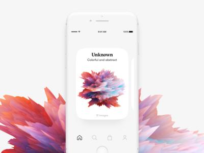 Digital art card UI