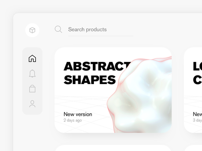Abstract Shapes WIP navigation 3d cards ui web
