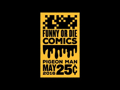 Funny Or Die Comics Logo pixel icon illustration pigeon man funny or die comedy print web logo comics