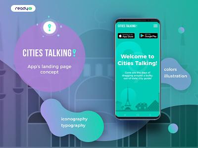 Cities Talking landing page concept mosque illustration landingpage app concept design ui ux