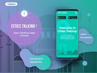 Cities Talking landing page concept