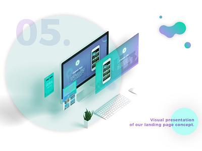 Cities Talking Landing Page Concept citiestalking presentation softwarehouse gradient violet illustration landingpage app concept design ui ux