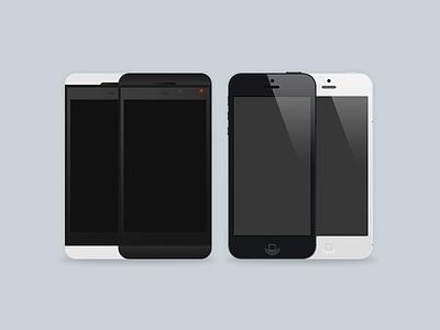 Iphone / BlackBerry black white blackberry iphone device apple