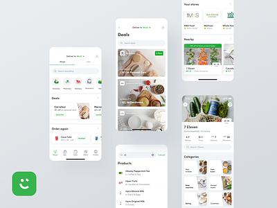 Careem App - Groceries #1 netgurudesign netguru shops navigation homepage searchbar search reorder categories deals app mobileapp mobiledesign mobile ux ui groceries uber careem