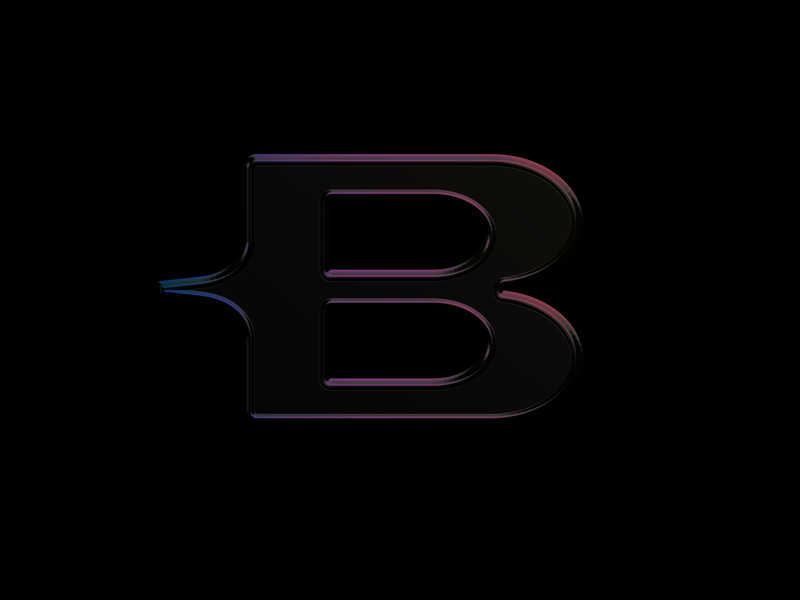 This Means Business embossed b letter letter b logo vibes dreamy letter b business