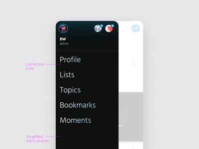 Twitter Live UI Concept ui sheet influencers tweets design concept concepts twitterlive minimal uidesign light social media twitter
