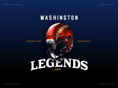 Washington Legends (Redskins Rebrand) rebrand affinity designer uniforms logos branding