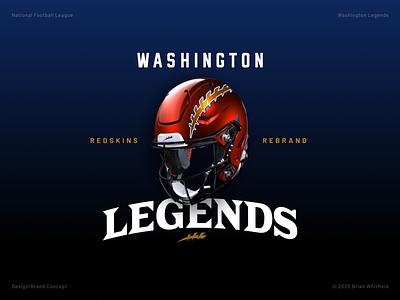 Washington Legends (Redskins Rebrand) rebrand affinity designer uniforms logos branding