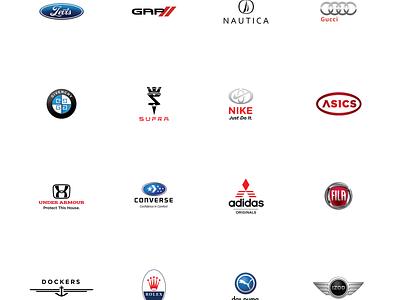 Automobile Fashion parody auto brand play logos identity branding cars automobile
