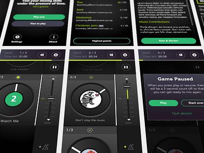 DJ Game mobile app game design mobile dj ios app game