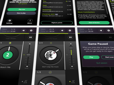 DJ Game mobile app game design mobile dj ios app game