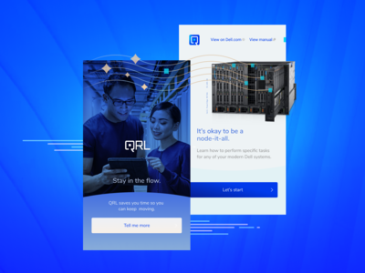 QRL Genesys: Design Concept and Brand Refresh case study redesign qrl dell devices servers ui