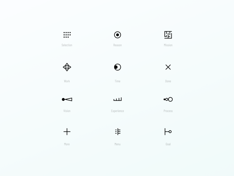Mysterious Abstract Glyphs mysterious abstract minimal glyphs iconography icons