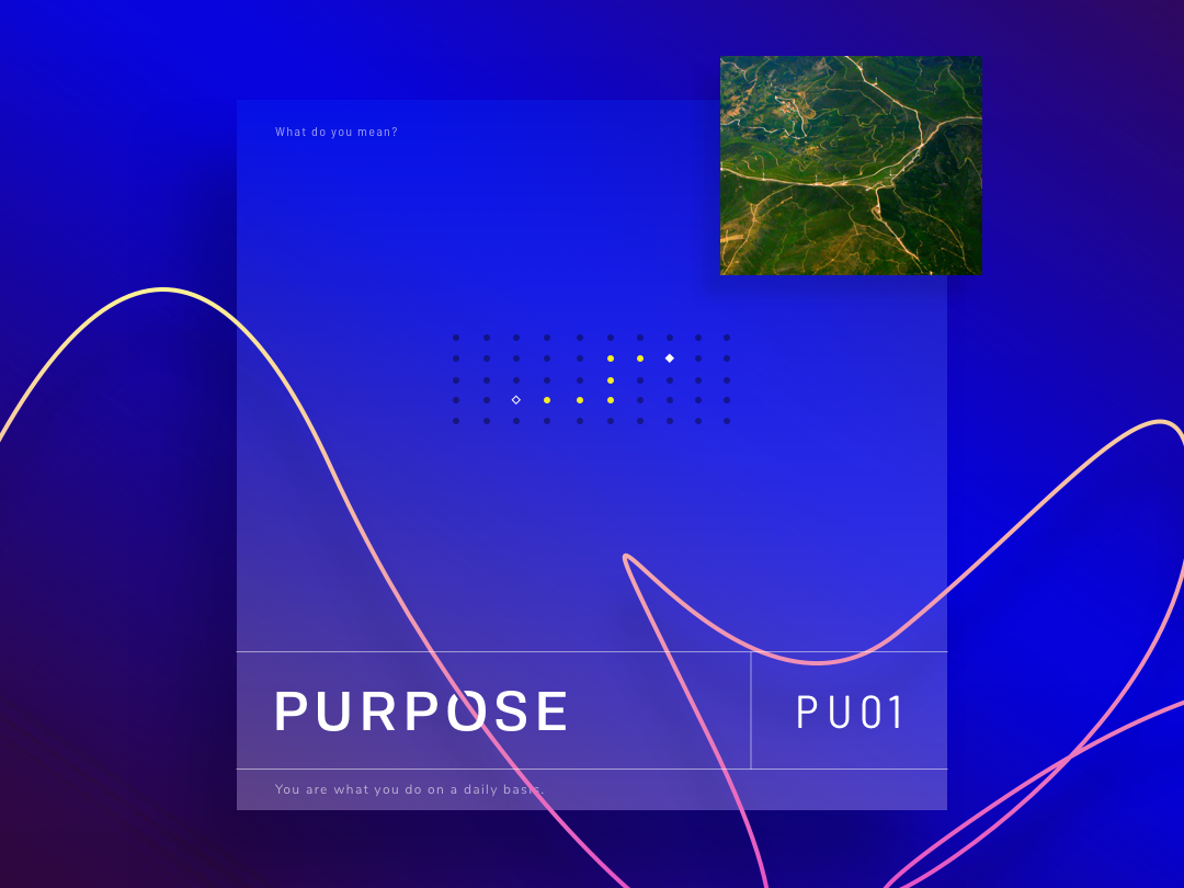 Purpose - PU01 series whitfield purpose poster quote