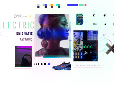 Mood Board icons abstract the xx branding and identity style music enigma electric moodboard