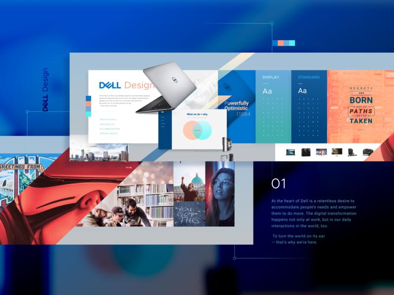 Dell Design Vision Concept collage moodboard vision concept dell design dell identity branding