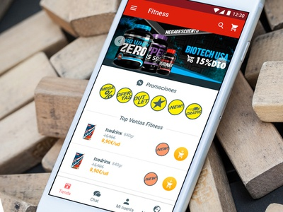Fitness shopping app design android ui ux shopping app fitness